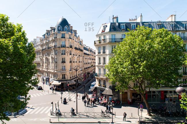 Parisian street in spring