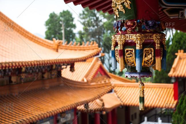 Ornate detail at the Sun Moon Lake Wen Wu Temple, Taiwan