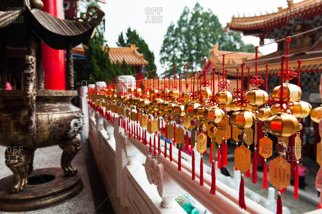 Wind chimes at a Wen Wu Temple in Taiwan