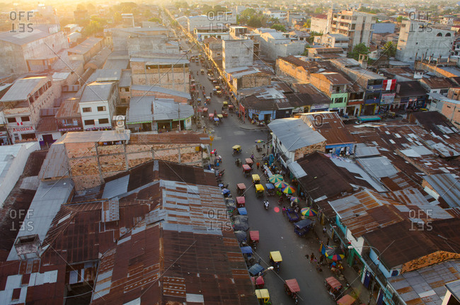 Bird's eye view of Iquitos, Peru