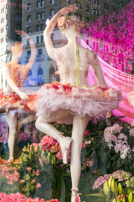NY, NY, USA - April 4, 2015: Window display in New York City, NY, USA
