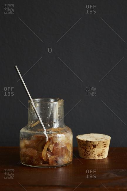 Onion jam in a jar