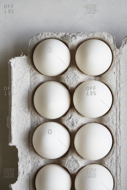 Close up of eggs in carton