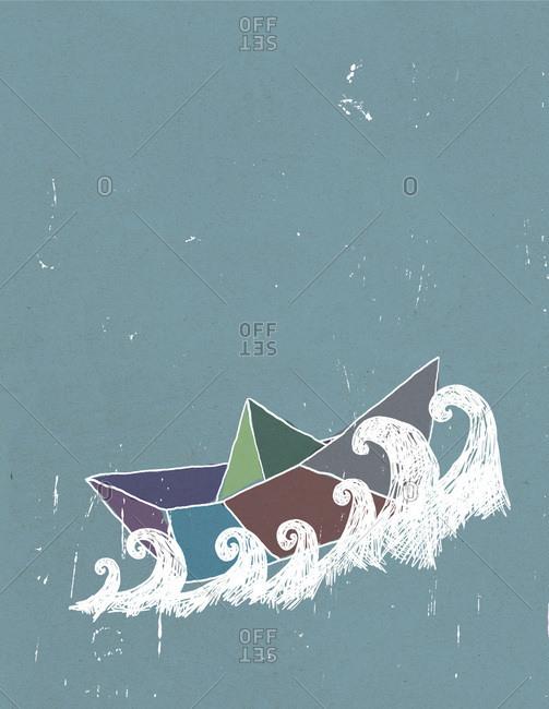 A paper boat