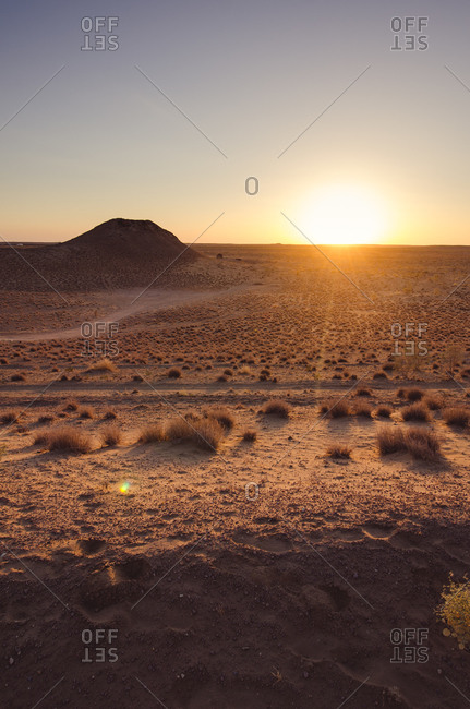 Landscape of a desert in rural Turkmenistan