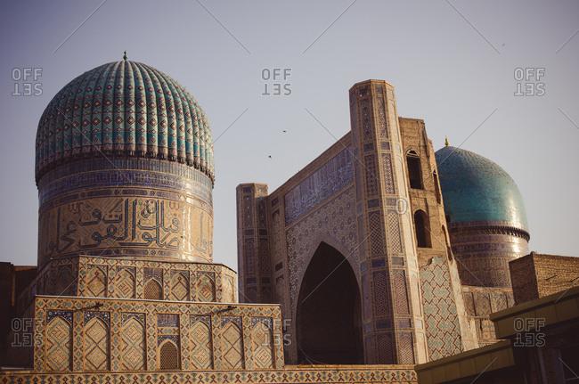 Exterior of the Bibi-Khanym Mosque in Uzbekistan