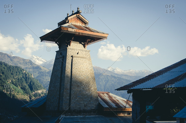 Exterior of a tower in Manali, Himachal Pradesh, India