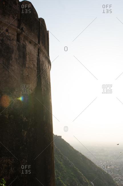 Exterior of a fortress in Jodhpur, Rajastan, India
