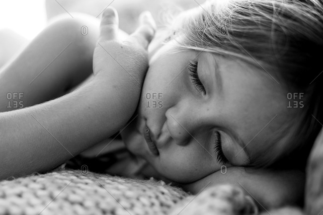 Portrait of a sleeping girl