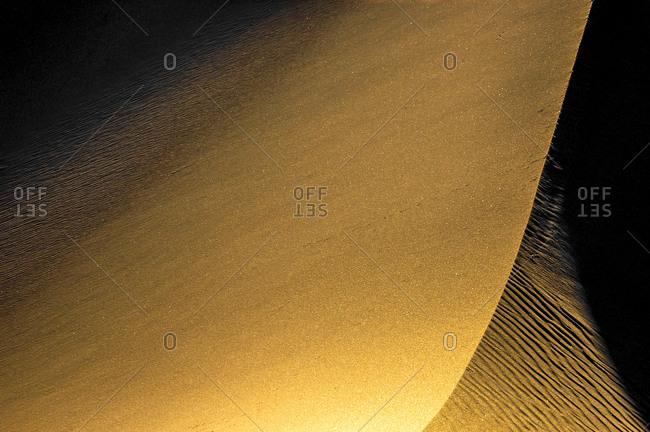 Last line on the dunes, Eureka Dunes, CA