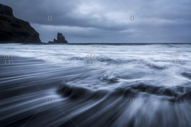 Cliffs on a gloomy seacoast