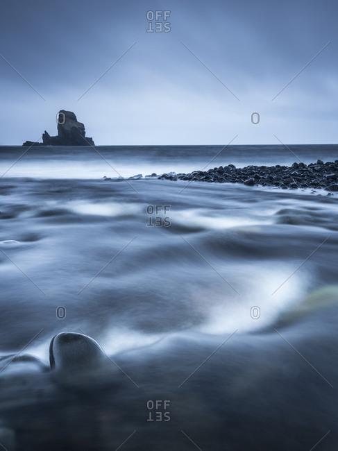 Rocks on a gloomy seacoast