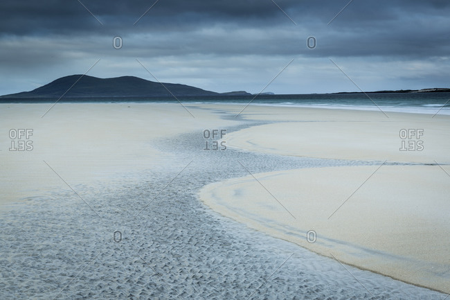 Ripples in the sand on the shore of Luskentyre, Scotland