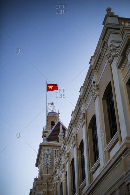 Ho Chi Minh City, Vietnam - February 26, 2015: The People's Committee building in downtown Ho Chi Minh City, Vietnam