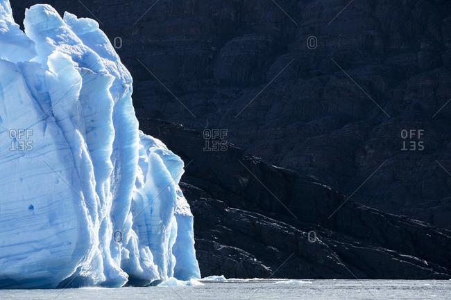 Grey Glacier and Lago Grey, Torres del Paine National Park, Magallanes y la Antartica Chilena Region, Chile