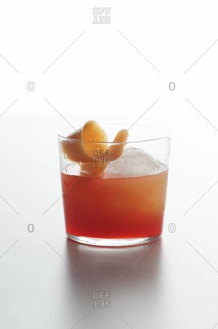 Red cocktail with a twist