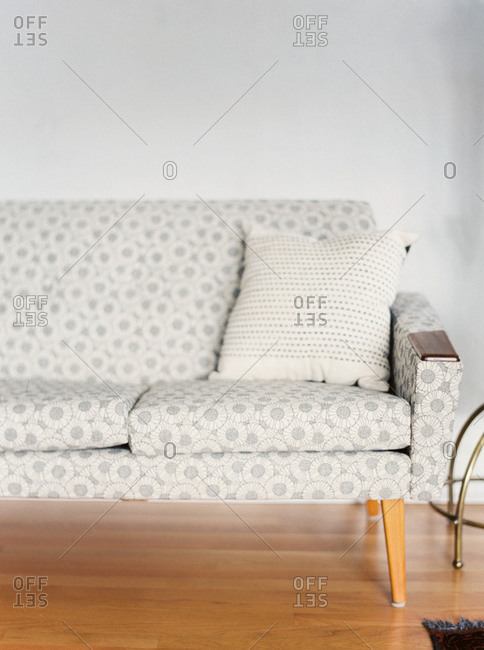 Cushion on a couch in a living room