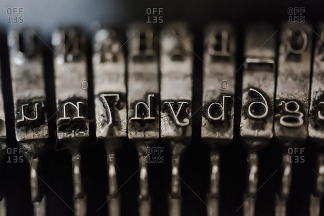 Typebar of a typewriter