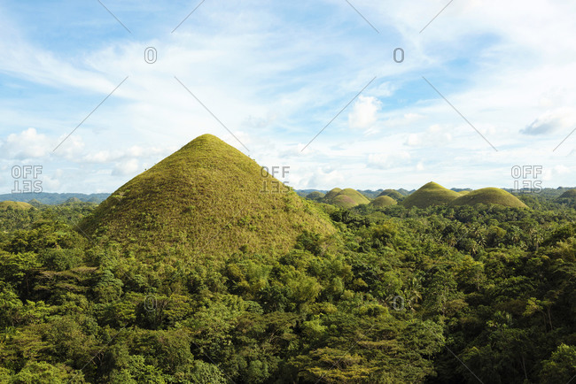 View to Chocolate Hills, Bohol