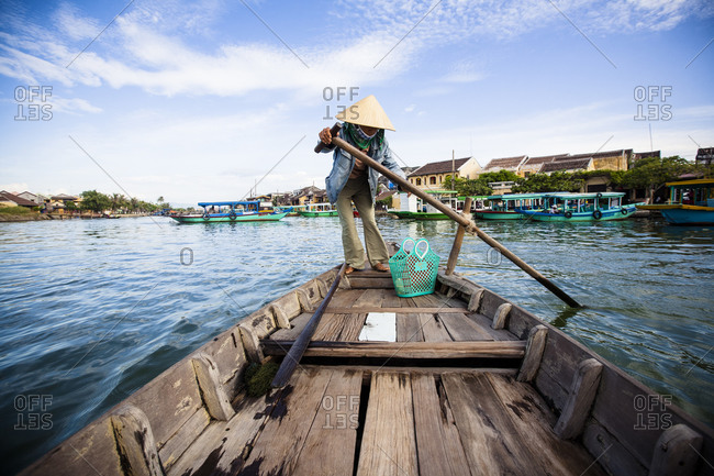 A boat on the river in Hoi An, Vietnam
