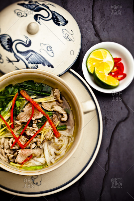 The traditional Vietnamese dish pho