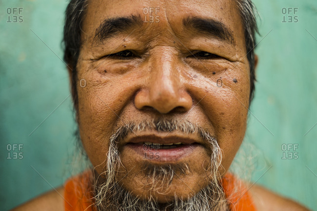 A portrait of Y Kong, the 88-year-old former king of the Co Tu nation