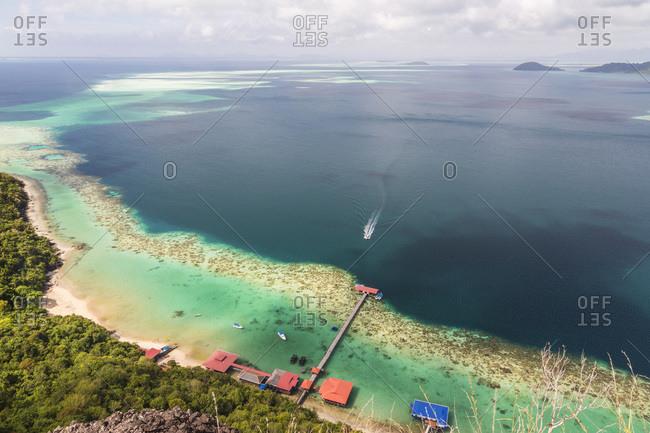 February 2, 2015: Tun Sakaran Marine Park, Celebes Sea, Sabah, Borneo, Malaysia