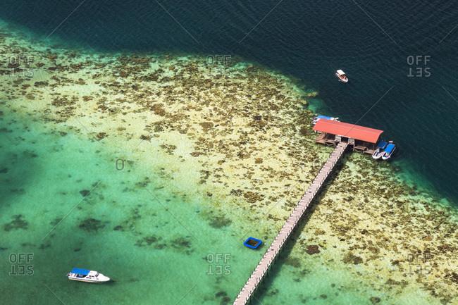 February 2, 2015: Tun Sakaran Marine Park, Celebes Sea, Borneo, Malaysia