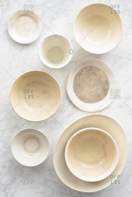 Vintage eggshell bowls