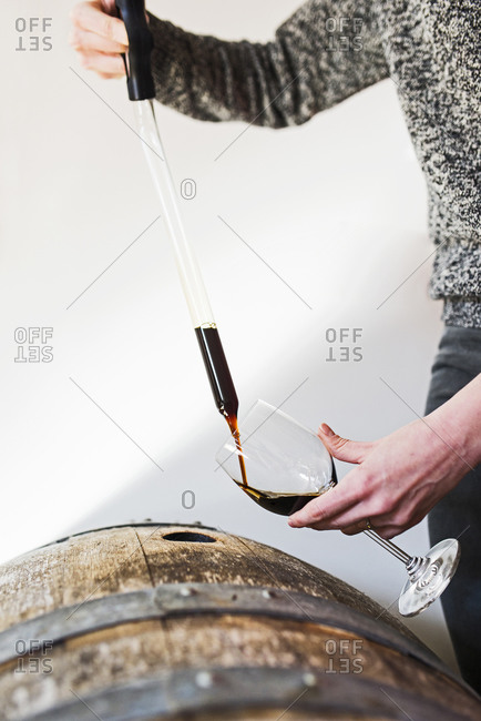 Testing wine from a cask