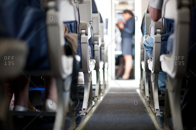 Aisle in an airplane