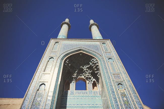 Detail of the iwan of Jameh Mosque of Yazd, Iran