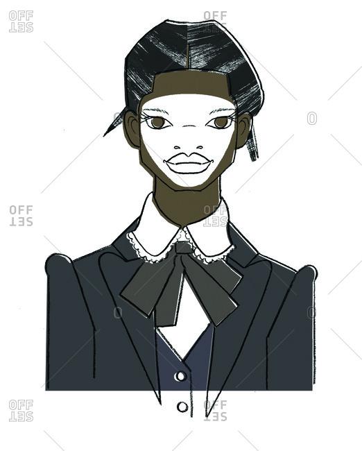 Woman's portrait with business suit