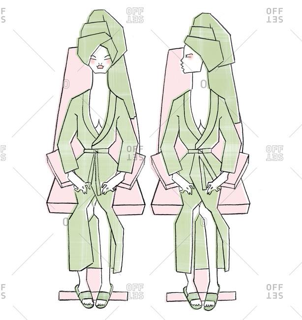 Two women at a salon