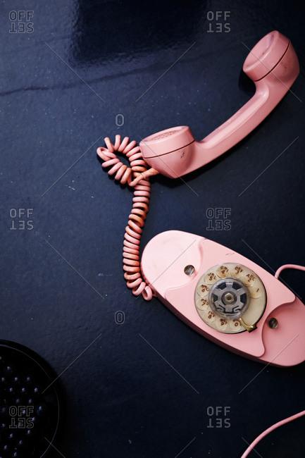 Dial phone in studio shot