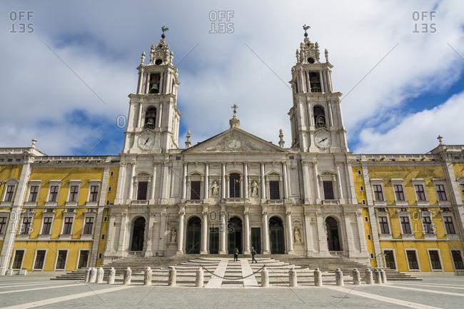 Mafra, Portugal - February 22, 2015: Monastery Mafra (Mafra National Palace), Mafra, Portugal