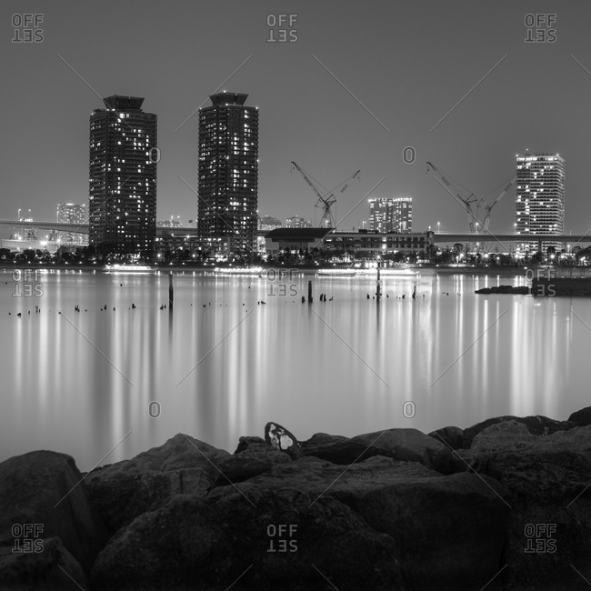 Night view of Tokyo from Odaiba Bay