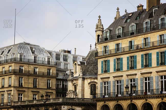 Traditional Parisian buildings