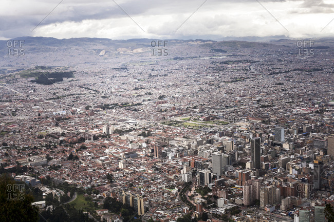 Bogota, colombia on a cloudy day