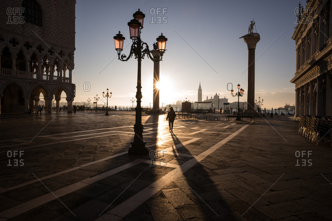 Woman at Piazza San Marco, Venice, Italy