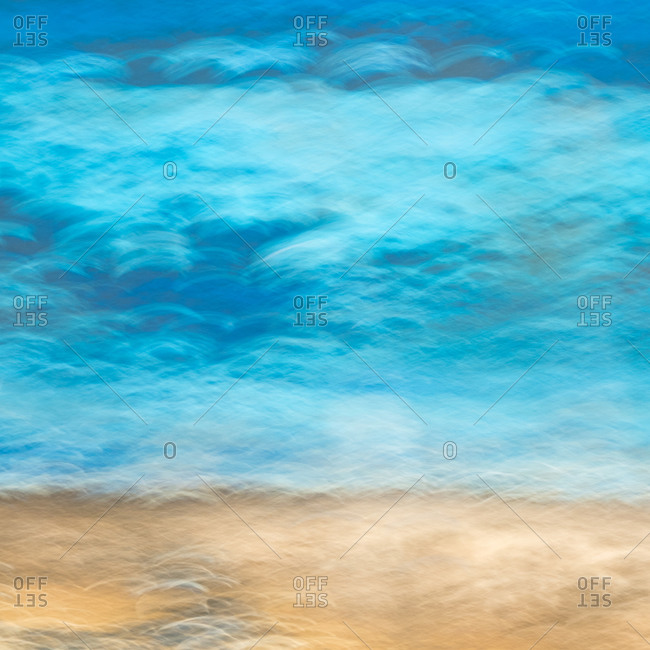Abstract detail of the surface of a fishing boat