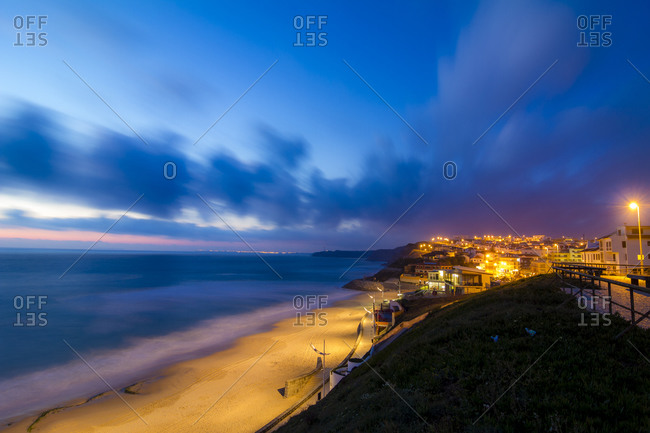 View to beach in the evening, Lourinha