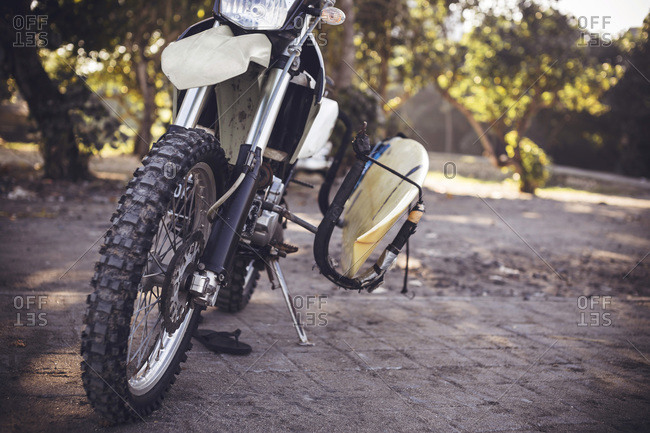 Motorbike with surfboard - Offset Collection