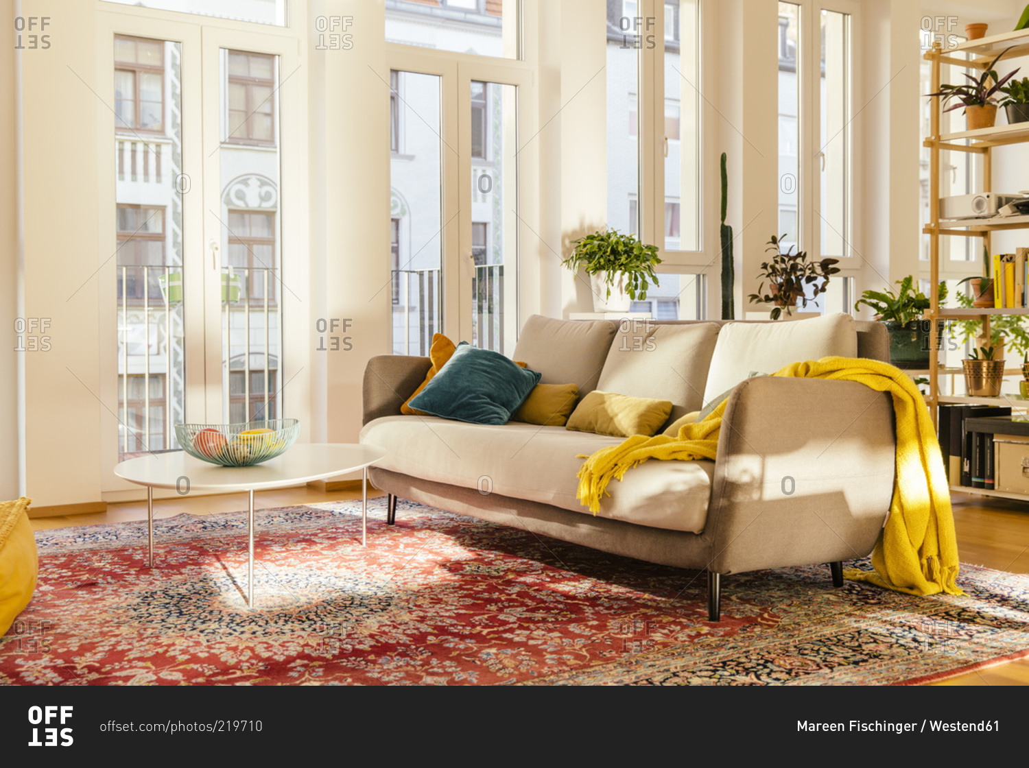 Persian Rug Living Room Living Room Area With Persian Rug Stock Photo Offset