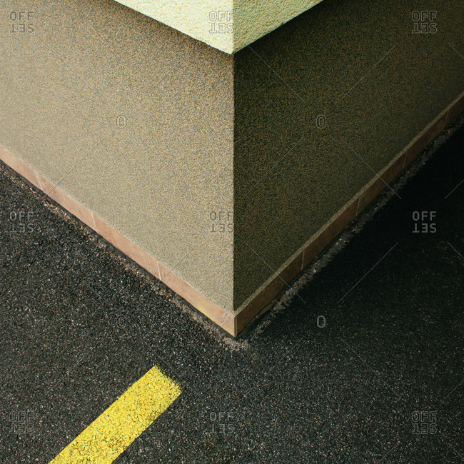 Corner of a concrete building