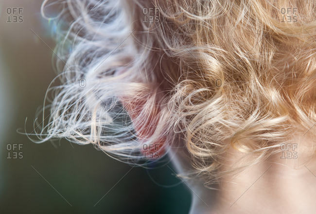 Close-up of the back of girl's head