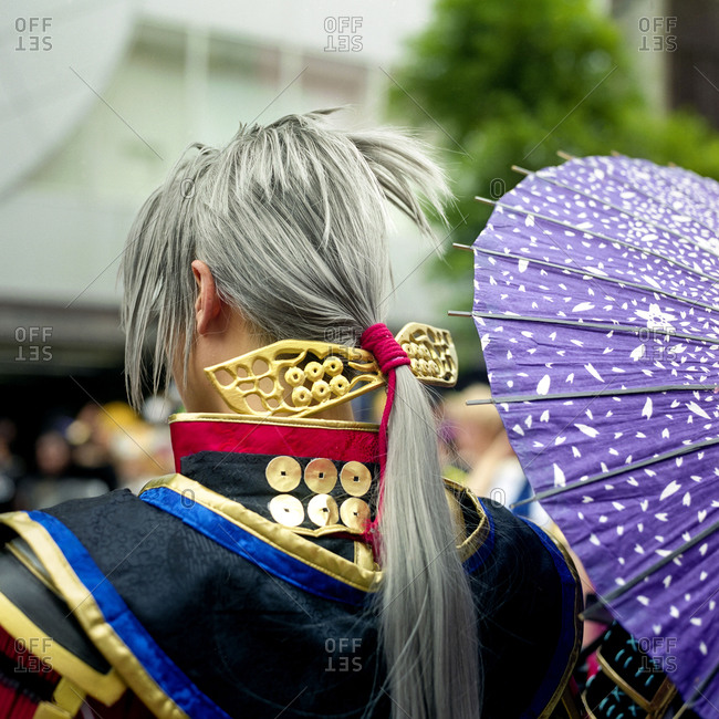 Back view of a cosplayer in Nagoya, Japan