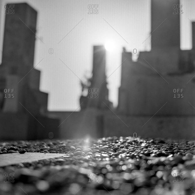 Gravel in a cemetery in Japan