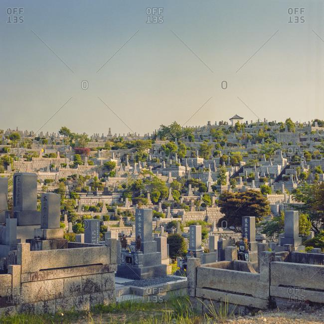 Cemetery in Yagoto, Nagoya, Japan