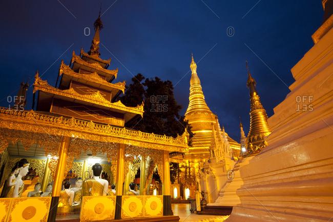Yangon, Myanmar - August 16, 2011: Shwedagon Paya, Yangon, Myanmar
